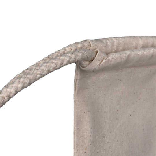5oz natural printed cotton drawstring bags closure pfn1104