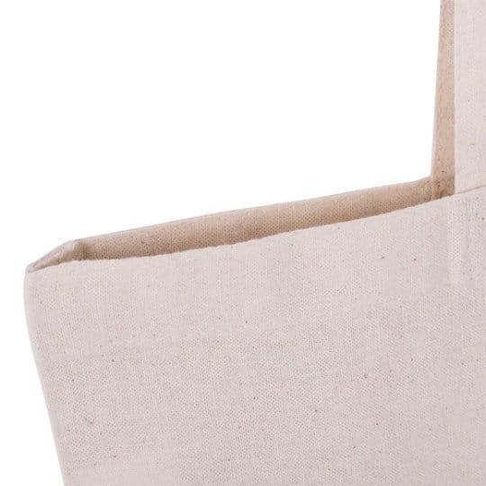 5oz natural printed cotton shopping bags handle stitch view pfn1105