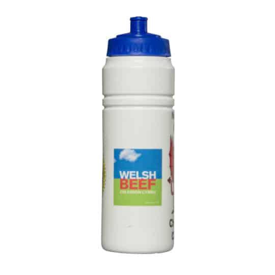 750ml energize printed sports bottles white bottle blue lid pfn1149