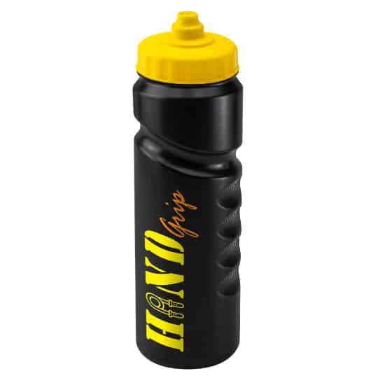 750ml finger grip printed sports bottles black and yellow pfn1311