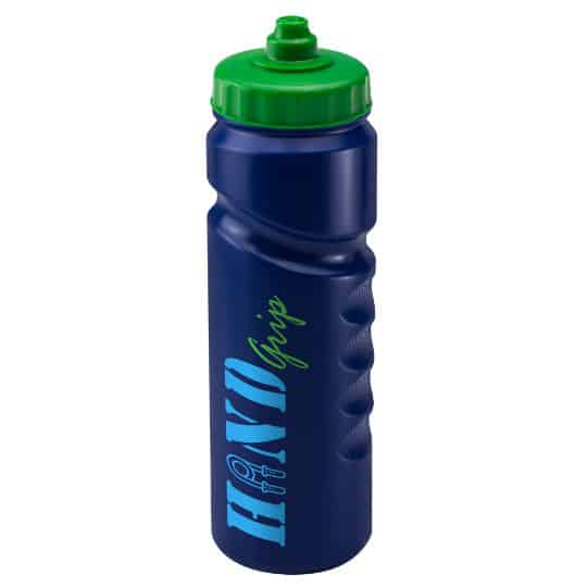 750ml finger grip printed sports bottles blue and green pfn1311
