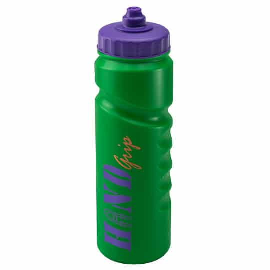 750ml finger grip printed sports bottles green and purple pfn1311