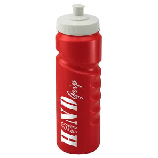 750ml finger grip printed sports bottles red and white pfn1311