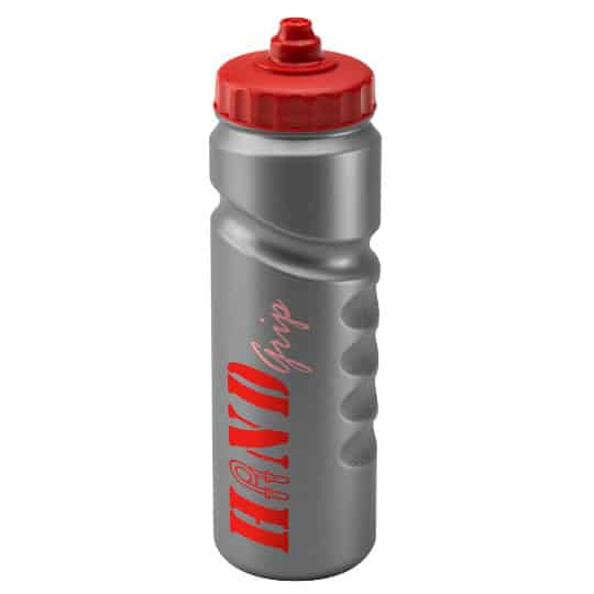 750ml finger grip printed sports bottles silver and red pfn1311