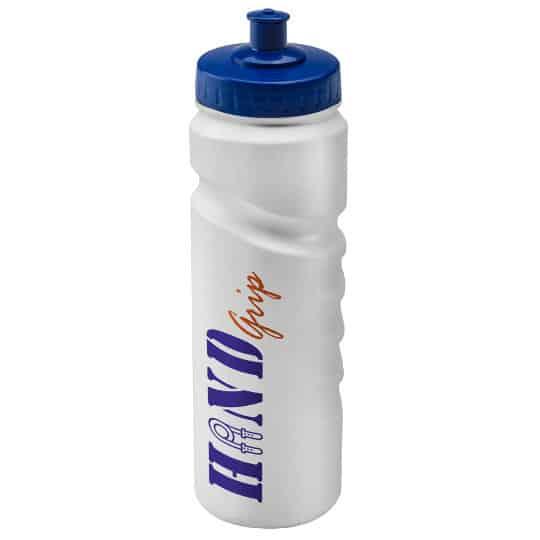 750ml finger grip printed sports bottles white and blue pfn1311