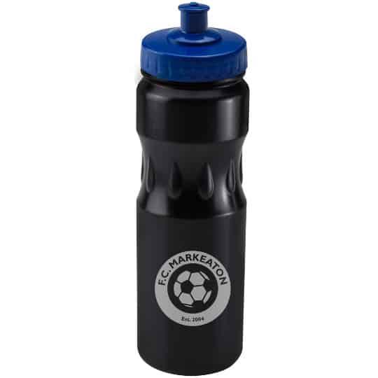 750ml teardrop printed sports bottles blue lid pfn1314