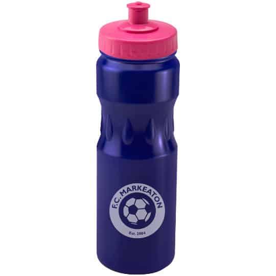 750ml teardrop printed sports bottles pink lid pfn1314
