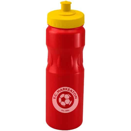 750ml teardrop printed sports bottles yellow lid pfn1314