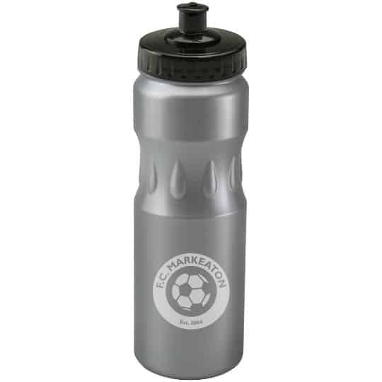 750ml teardrop printed sports bottles silver bottle pfn1314