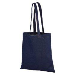 8oz carnaby recycled denim printed shopping bags pfn1166
