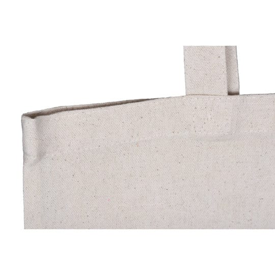 8oz printed cotton canvas shopping bags handle stitch pfn1107