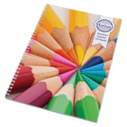 A4 printed wiro notebooks with card cover pfn1009