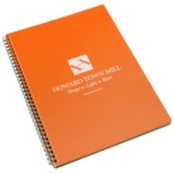 A4 printed wiro notebooks with recycled polyprop cover pfn1016
