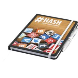 A5 nero printed notebooks with contour pen pfn1522