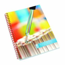 A5 printed wiro notebooks with polyprop cover pfn1013