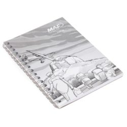A6 printed recycled wiro notebooks pfn1223