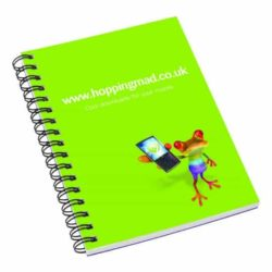 A6 printed wiro notebooks with card cover pfn1011