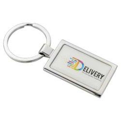 Alloy injection rectangular promotional keyrings pfn1402