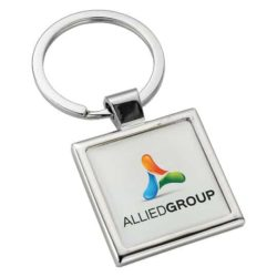 Alloy injection square promotional keyrings pfn1400
