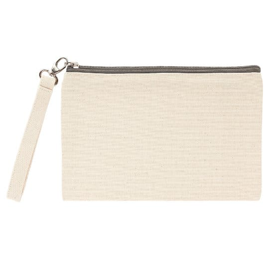 Ascot organic canvas promotional cosmetic bags pfn1161
