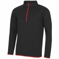 AWDs Just-Cool half-zip fitted printed gym tops pfn1809