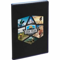 Couture promotional notebooks with blue trim pfn1510