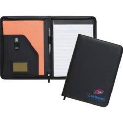 Dartmouth promotional A4 zipped conference folders open view pfn1512