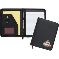 Dartmouth A5 promotional zipped conference folders open view pfn1514