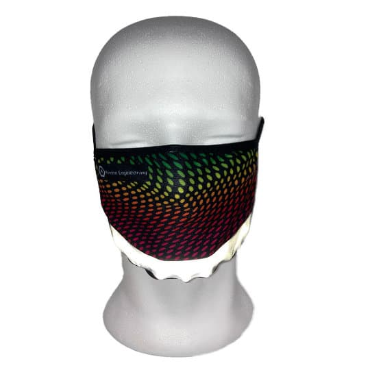 Double layer printed face masks with reflective strip pfn1957