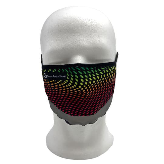 Double layer printed face masks with reflective strip modelled pfn1957