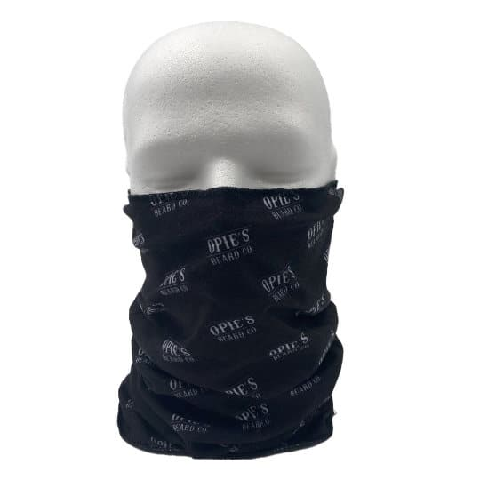Double layer printed snoods shown over face pfn1959