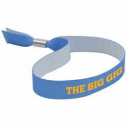 Dye sub printed event wristbands branded with a logo pfn1409