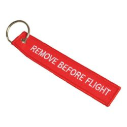 Embroidered promotional flight tag keyrings pfn1430