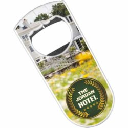 Fist shaped printed bottle openers branded with a logo pfn1563