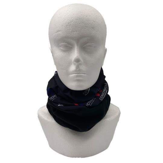 Fleece lined printed snoods worn around neck pfn1960