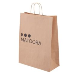 Large sustainable printed paper carrier bags pfn1172