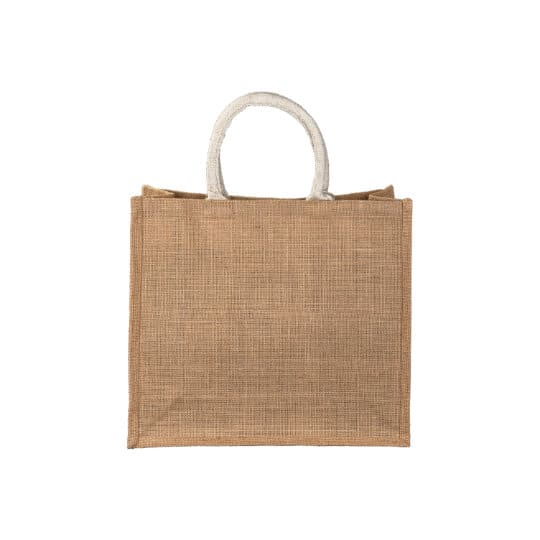 Medium jute promotional shopping bags front view pfn1138