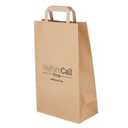 Medium recycled printed paper shopping bags printed side view pfn1181