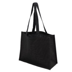 Melrose jute promotional shopping bags side view pfn1176