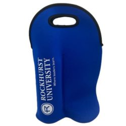 Promotional neoprene double wine bottle coolers front view pfn1413