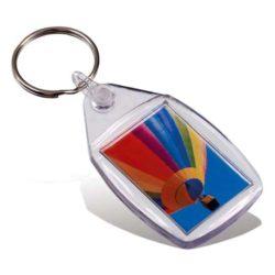Promotional picto insert rectangular keyrings branded pfn1598