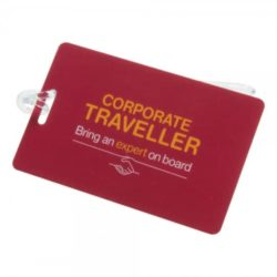 Printed luggage tags with silicon loop front view pfn1422