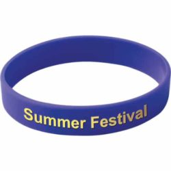 Printed silicon childs wristband with logo outside pfn1406