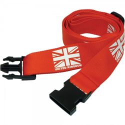 Screen printed luggage straps pfn1428