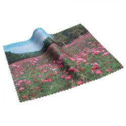 Small microfibre promotional phone cleaning cloths full colour printed pfn1468