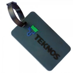 Promotional soft PVC luggage tags & buckle strap pfn1424