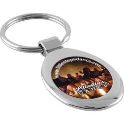 Spheros oval promotional metal keyrings pfn1612