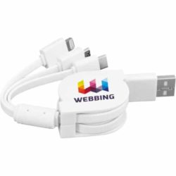 Sprint 3 in 1 retractable promotional charging cables pfn1590