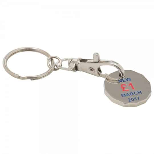 Stamped trolley coin promotional keyrings pfn1391
