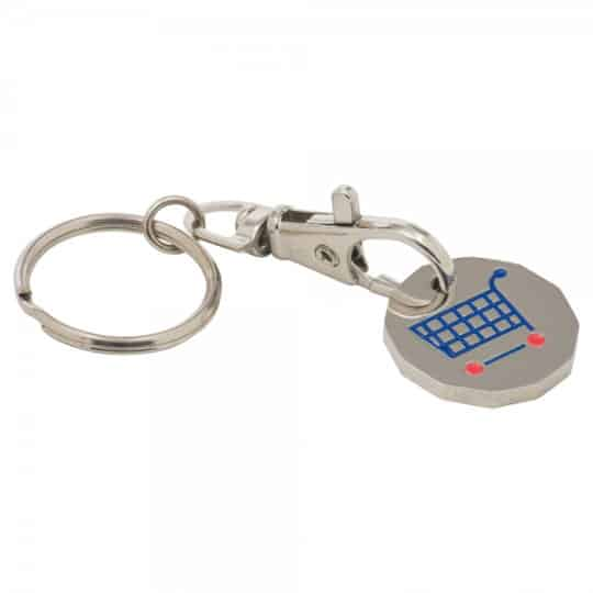 Stamped trolley coin promotional keyrings connected pfn1391
